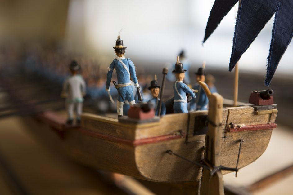 Laivan pienoismalli Ehrensvärd-museossa.