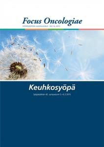 Kansikuva Focus Oncologiae -julkaisusta vuodelta 2015. Aiheena keuhkosyöpä