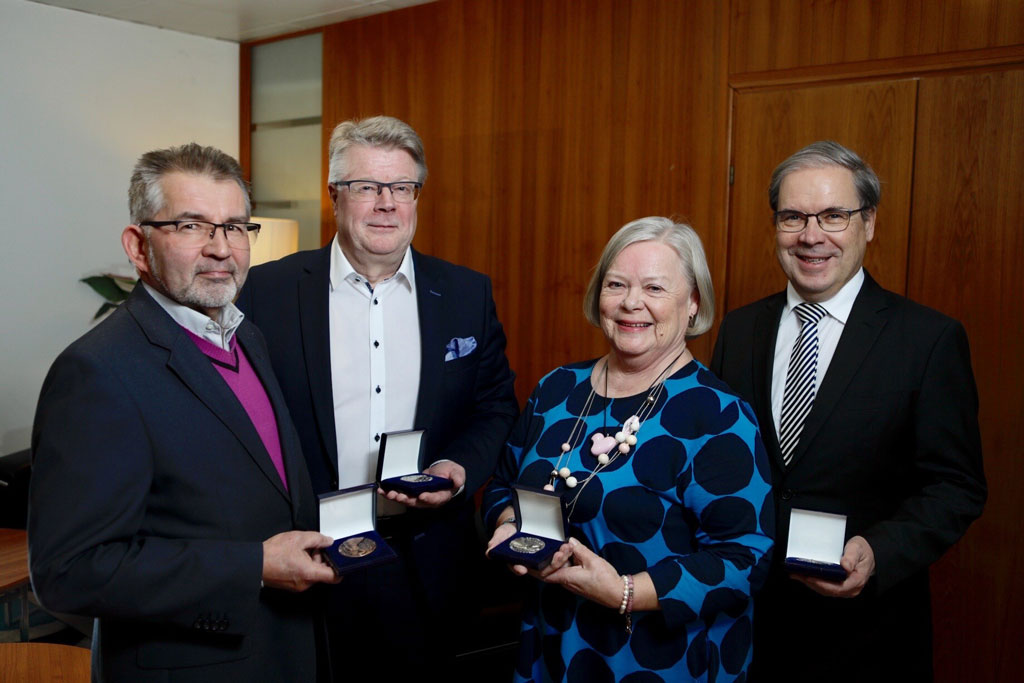 Hannu Poutanen, Pirkko Rönkkö, Vesa Kataja ja Jaakko Kaprio.