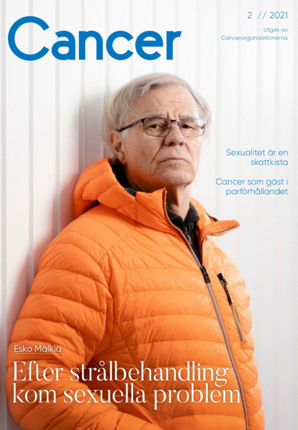 Ruotsinkielisen Cancer-lehden kansi, lehden numero 2/2021.