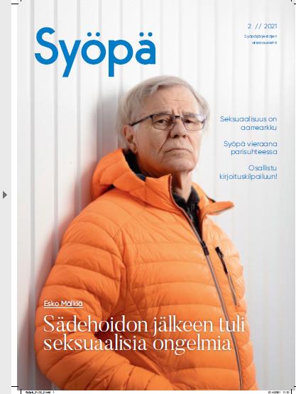 Syöpä-lehden kansi, lehden numero 2/2021
