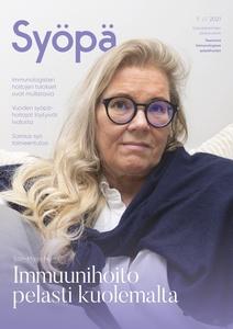 Syöpä-lehden kansi, lehden numero 1/2021