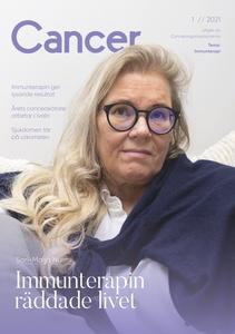 Ruotsinkielisen Cancer-lehden kansi, lehden numero 1/2021
